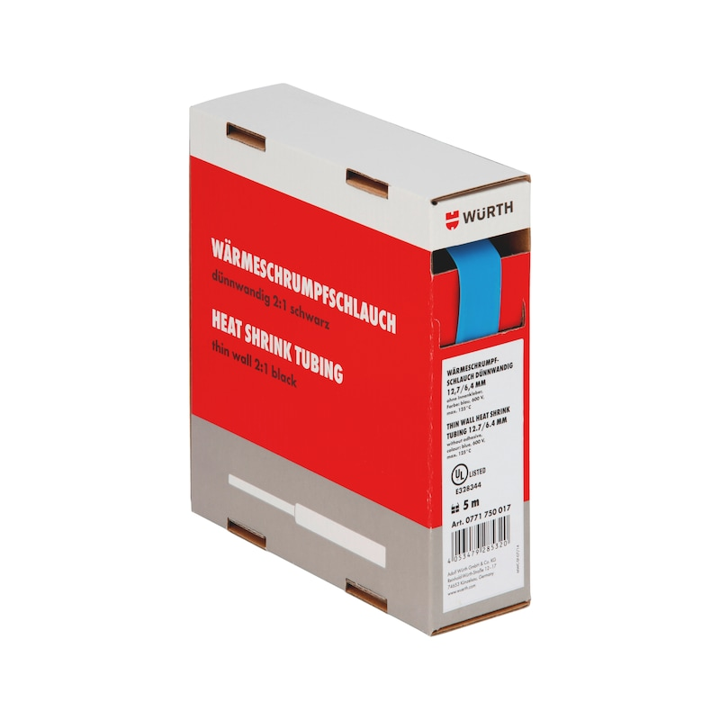 Guaina termoretraibile sottile - GUAINA-TERM-CART-BLU-(4,8-2,4MM)