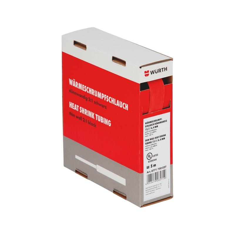 Guaina termoretraibile sottile - GUAINA-TERM-CART-ROSSA-(19-9,5MM)