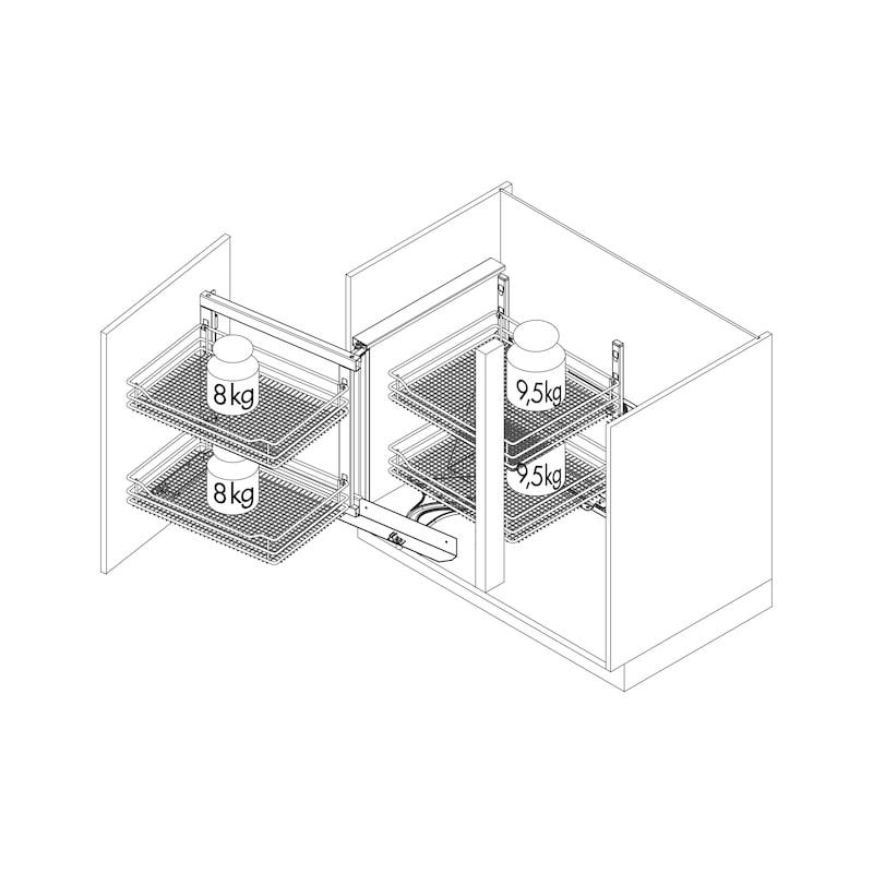 Eckschrank-Schwenkbeschlag VS COR FOLD  - 3