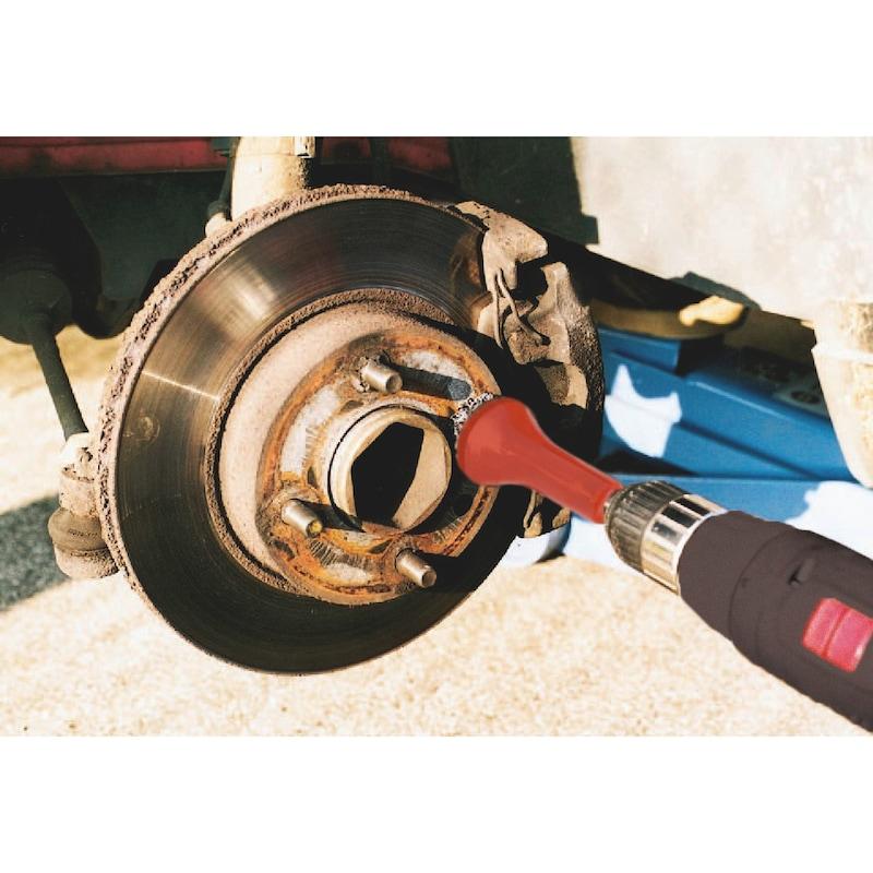 """Pulitore per mozzi delle ruote Tipo A con attacco da 1/2"""" - SUPPORTO-ABRASIVO-NYLON-ALU-1/2PO"""