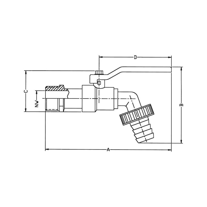 Kugel-Auslaufventil Compact - 2