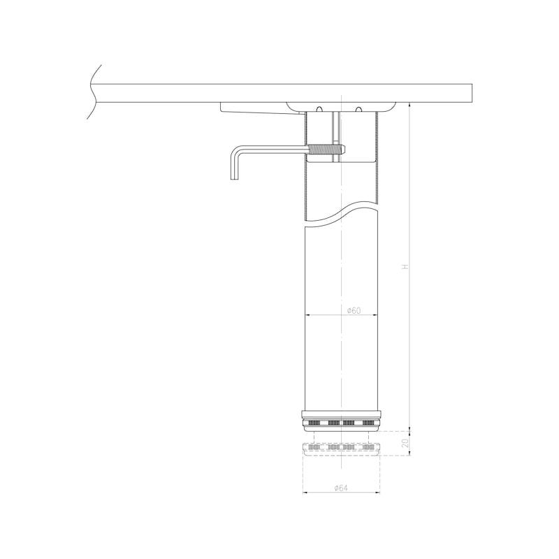 Tischbein-Set - 3
