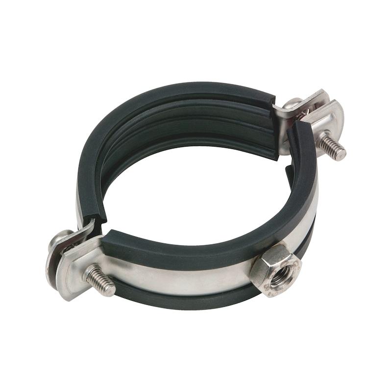 Rohrschelle  TIPP<SUP>®</SUP> Edelstahl A4 - ROSHEL-EDELSTAHL-A4-M10-(74-80MM)