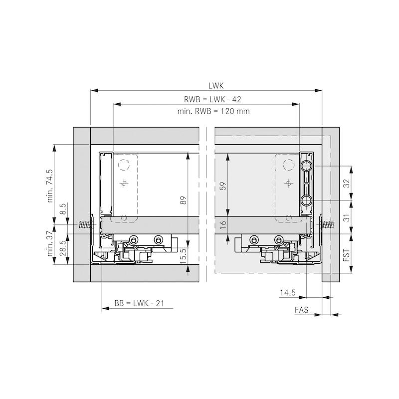 Zarge Vionaro H89 - ZARGSYS-VION-H89-GRAPHIT-NL600MM