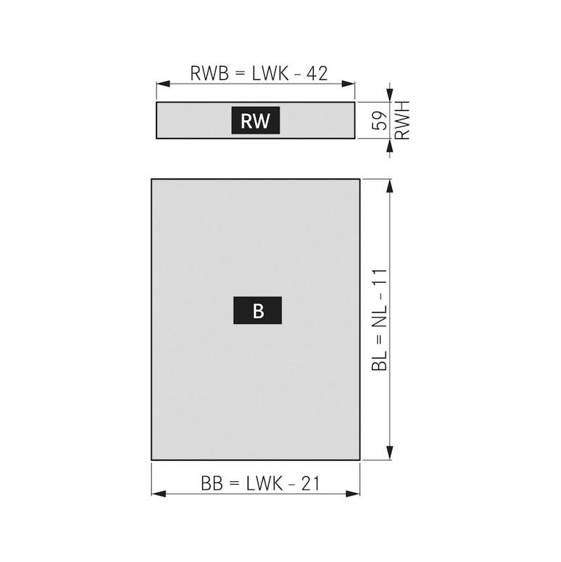 Zargen-Set Vionaro H89 - ZARGSYS-VION-SET-SILBRGRAU-H89-40KG-500