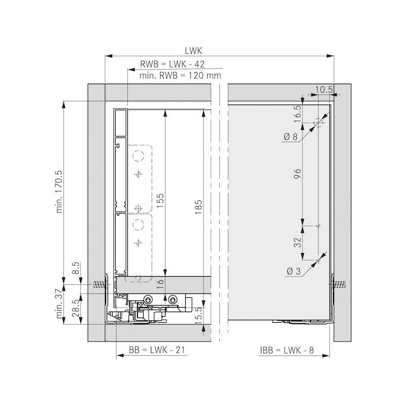Innenblende für Zargensystem Vionaro - ZB-FRONTBLND-VION-SILBRGRAU-H185