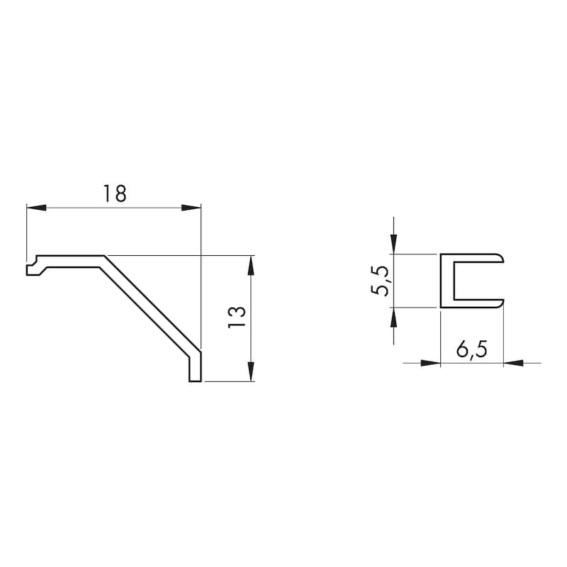 Glasnut für Rahmenprofil Typ A - 2