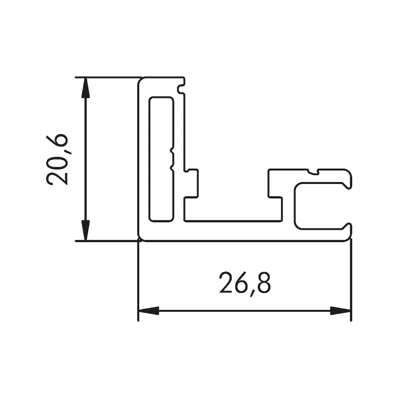 Aluminium Rahmenprofil Typ A - 2
