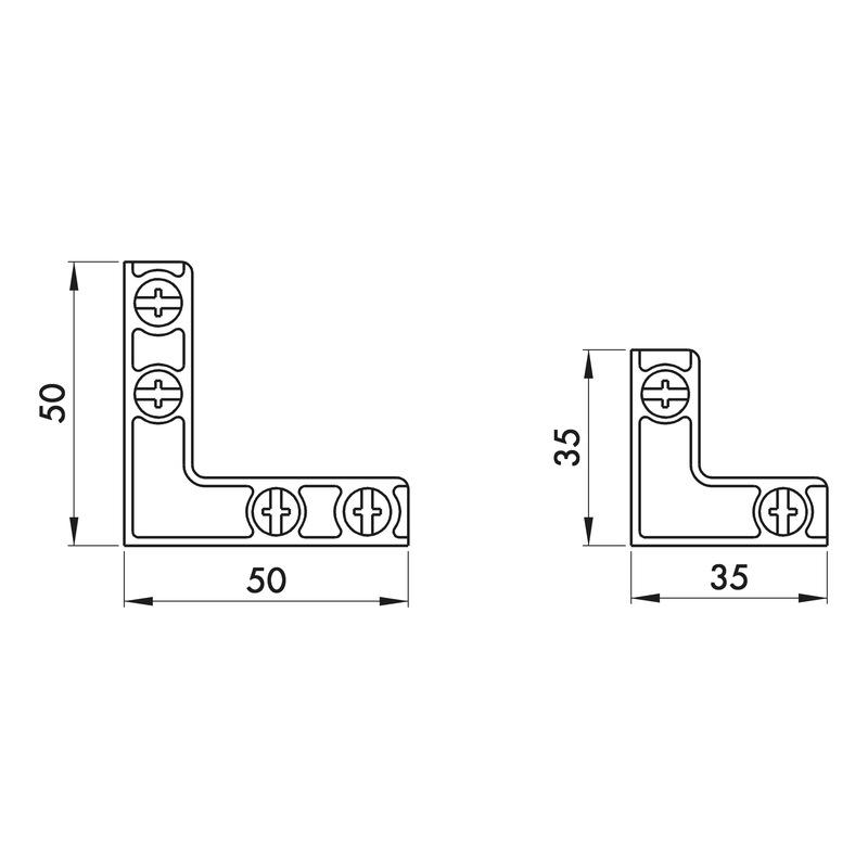 Eckverbinder Rahmenprofil Typ A - 2