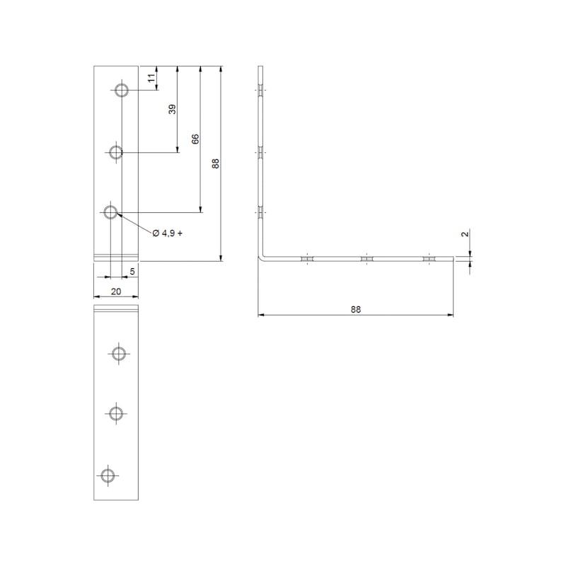 Stuhl- und Kistenwinkel - STUHL/KISTENWNKL-(A2K)-90/90MM