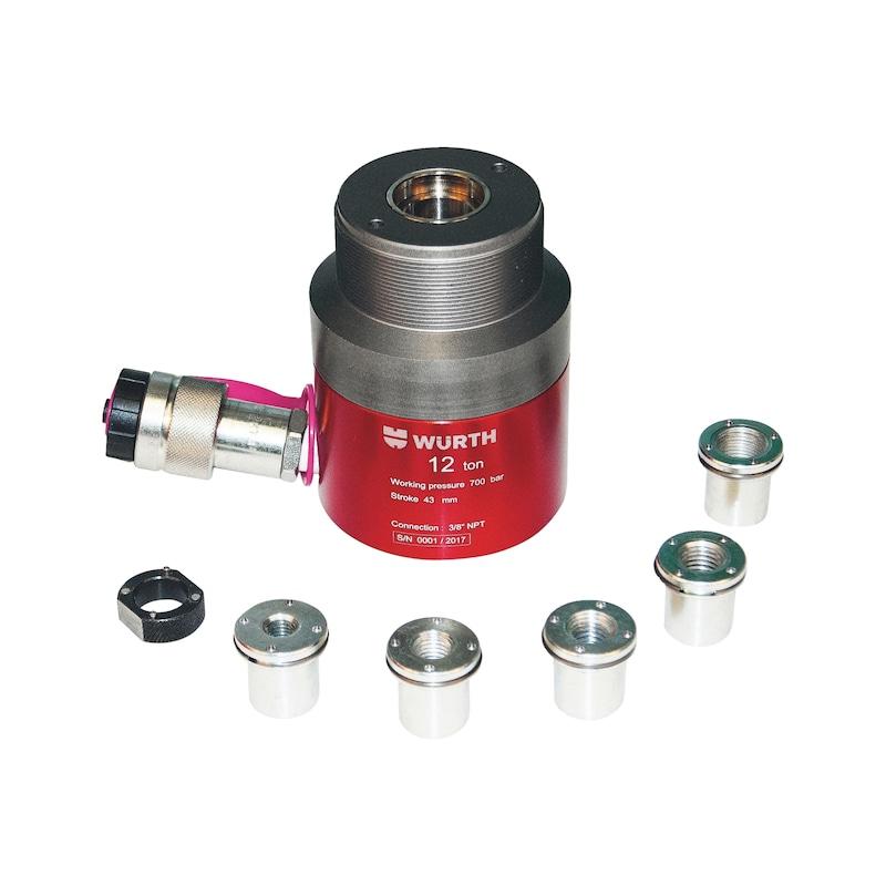 Vérin hydraulique à piston creux, aluminium