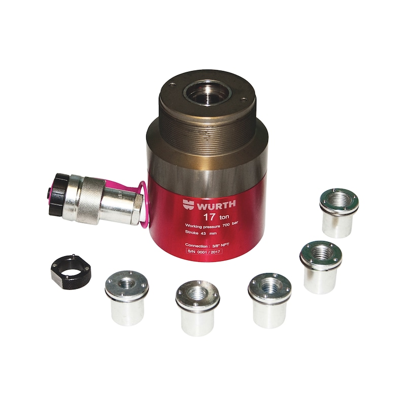 Hohlkolben-Hydraulik-Zylinder Aluminium - ALU-HYDRAULIK ZYLINDER 17-TONNEN