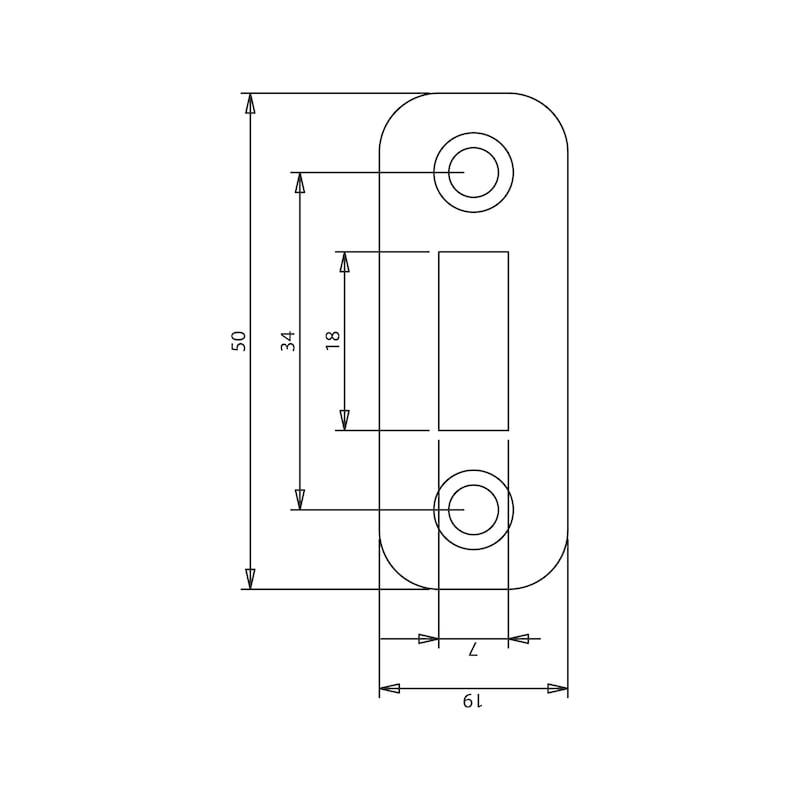 Schlossriegel - RIGL-SCHLOSS-GK-ST-(ZN)-BLAU-100X50MM