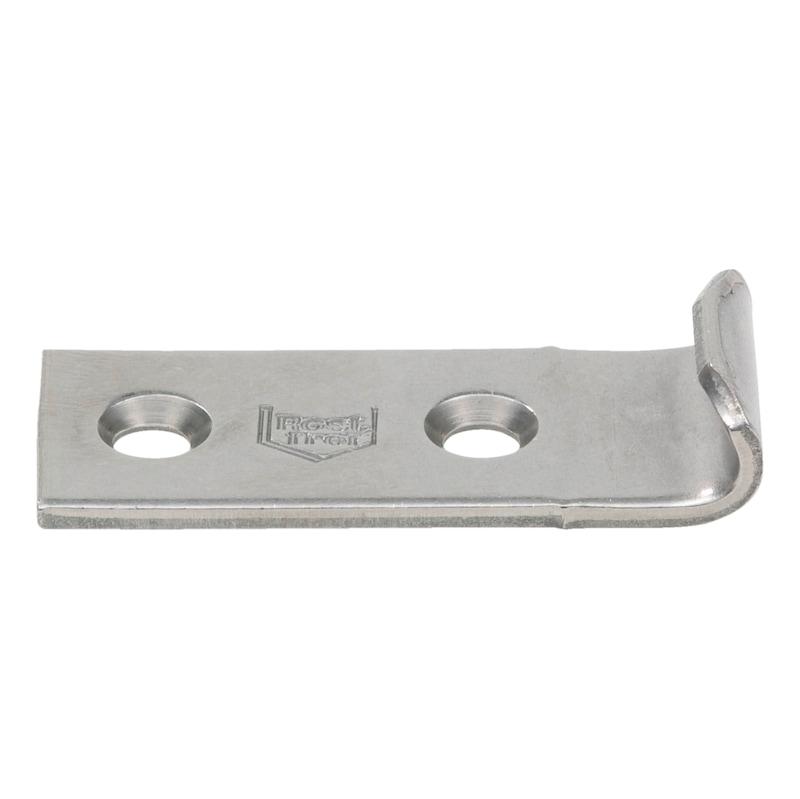 Gancio di chiusura - RISCONTRO DRITTO INOX A2 44X15MM