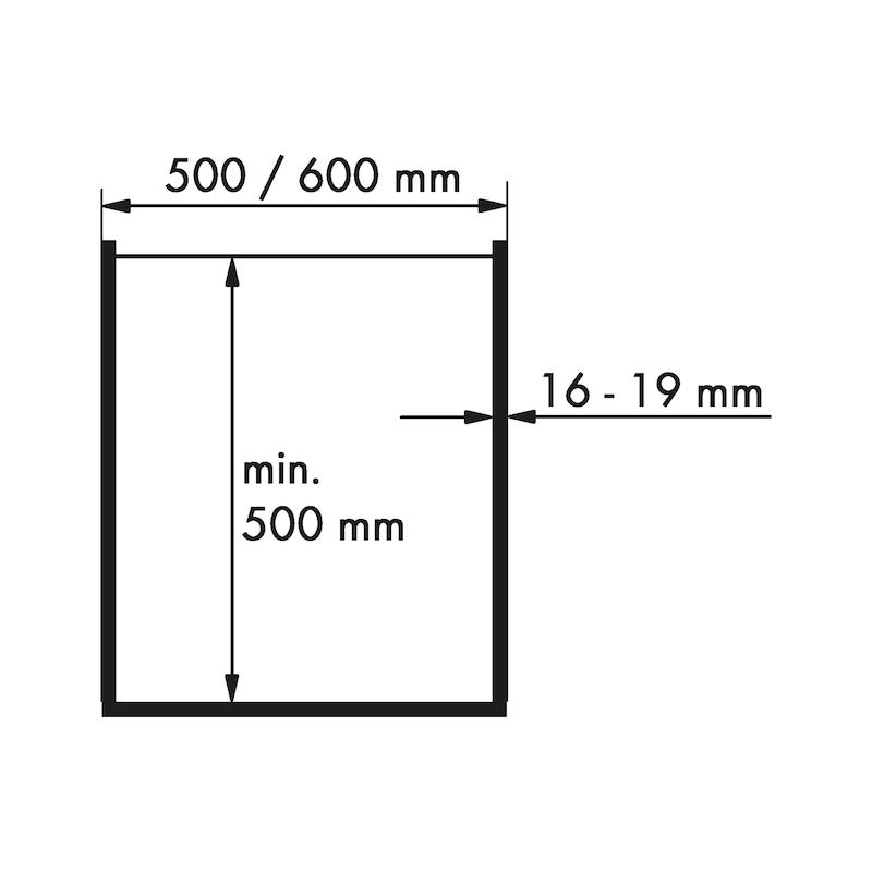 Hochschrankauszug  VS TAL GATE - AUSZG-HSHRNK-TG-600-AL-(1451-1700MM)