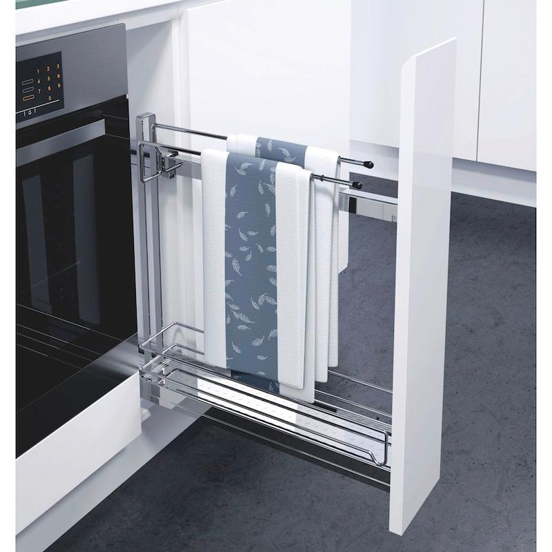 Etagenvollauszug 90° VS SUB Slim - AUSZG-VA-USHRNK-(CR)-SUB-SLIM-HAND-150