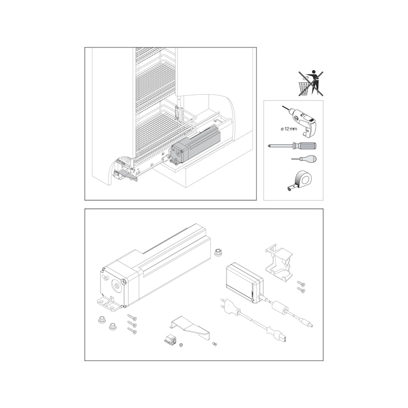 Öffnungsunterstützung VS TAL Larder Power Move - 3