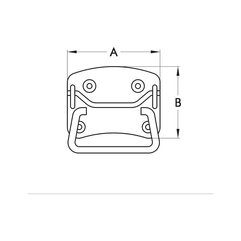 Kistgreep Type A - KISTGREEP-DIN3136-A2-100X80MM