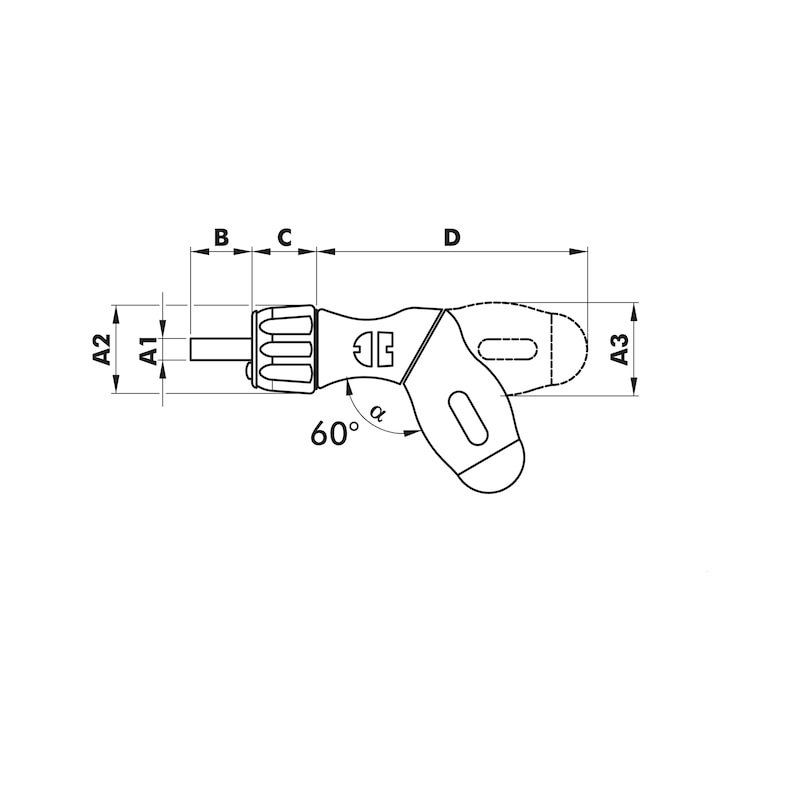 Pistolen-Ratschen-Magazinschraubendreher - SHRDRH-MG-PISTOLE-RAT-LED-LEER