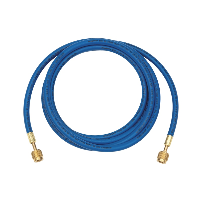 Hose line for air conditioning service unit