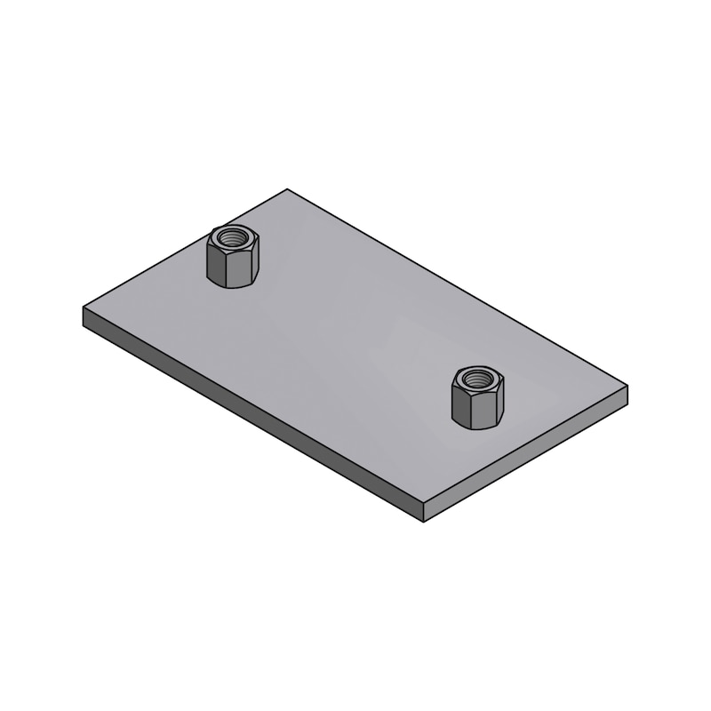 Gleitplatte mit Anschweissmutter - 1