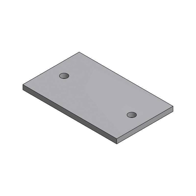 Gleitplatte mit Durchgangsbohrung - 1