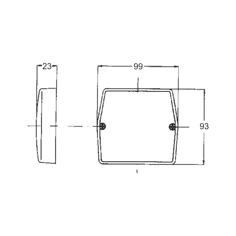 Cabochon pour feu 3 fonction carré - 2