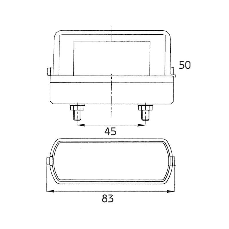 LED-Kennzeichenleuchte 12 V/24 V - 2