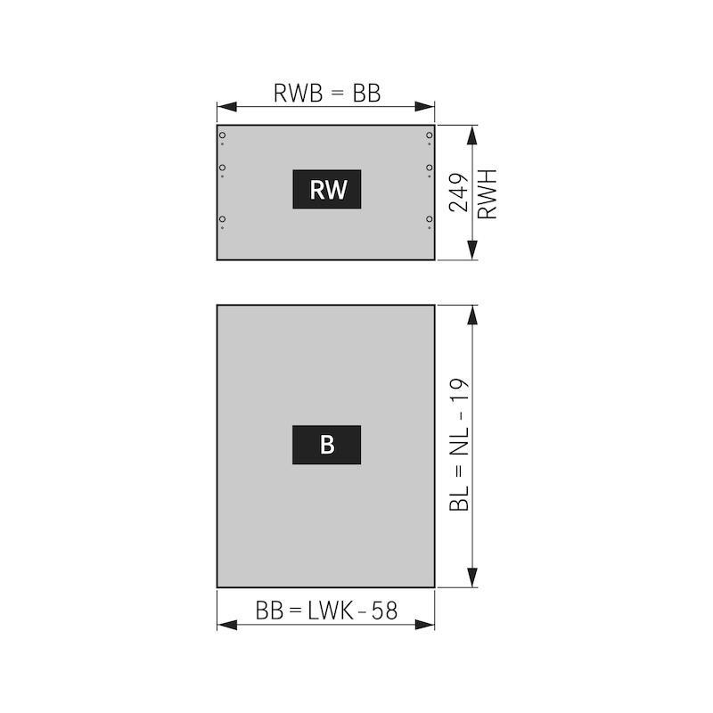 Zargen-Set Nova Pro Scala H250 - 4