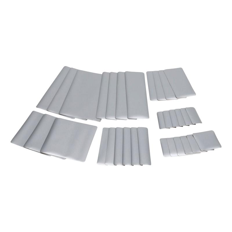 Sistema di riparazione per teloni Kit di rattoppi - KIT RIPARAZIONE TELONI  GRIGIO