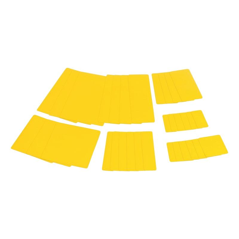 Sistema di riparazione per teloni Kit di rattoppi - KIT RIPARAZIONE TELONI  GIALLO