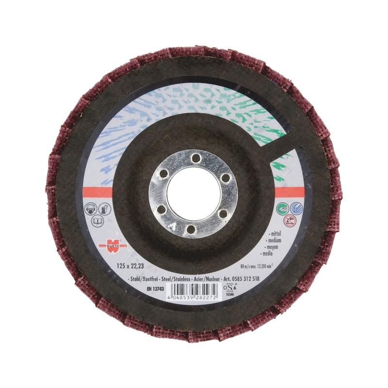 Listkowa tarcza szlifierska z włókniny - TARCZA LAMELOWA P180 -115X22,2MM