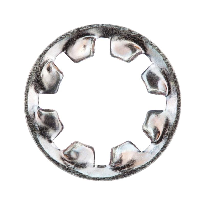 ギザ歯付きワッシャー、内側ギザ歯付き、タイプJ - スターワッシャー内ギザ ユニクロ M8