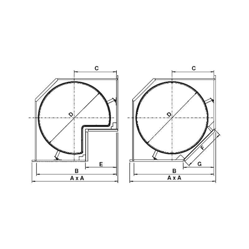 Raccord pivotant pour caisson d'angle VS COR Wheel Pro - 2