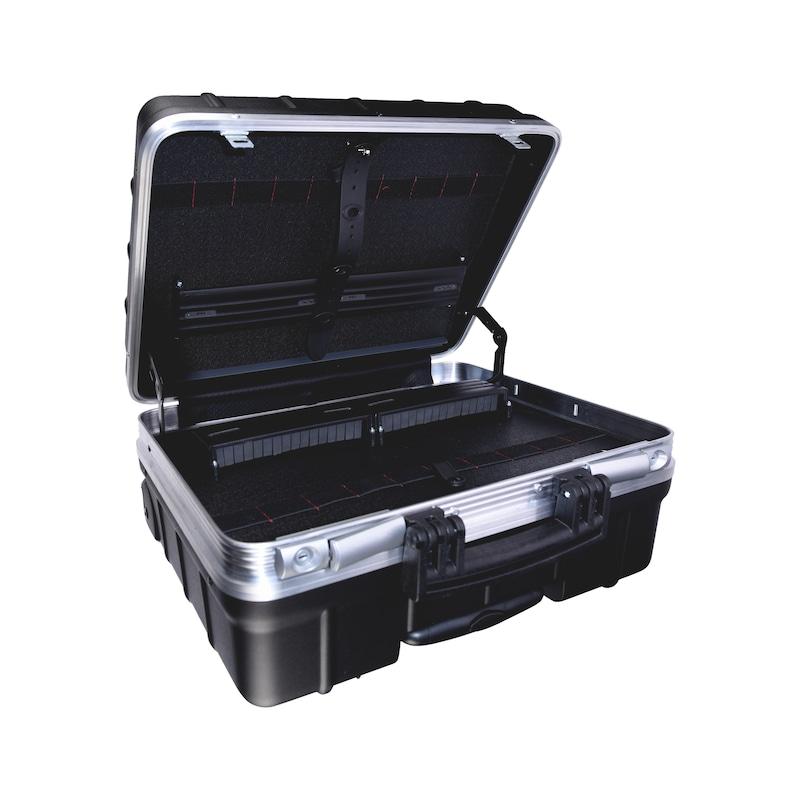 Caisse à outils à roulettes avec système de logement d'outil breveté - 1