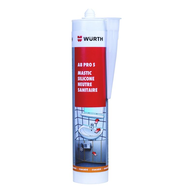 Mastic silicone neutre sanitaire et chambre froide a8 pro s - 1
