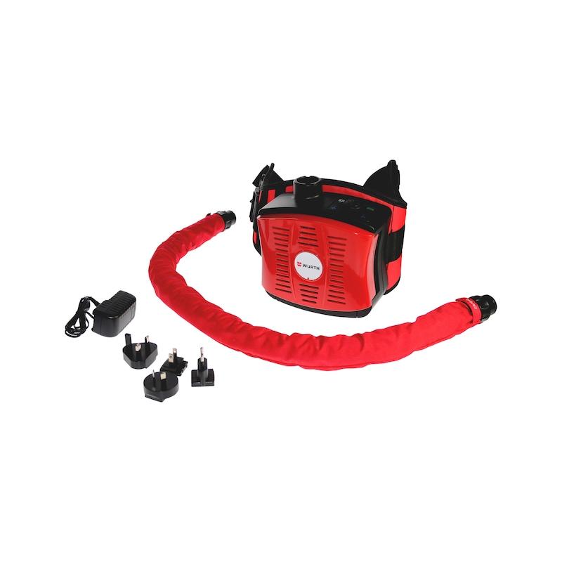 Cagoule de soudeur Airkos avec système de protection respiratoire à ventilation assistée et adduction d'air - CAGOULE SOUDEUR VENTILEE AIRKOS