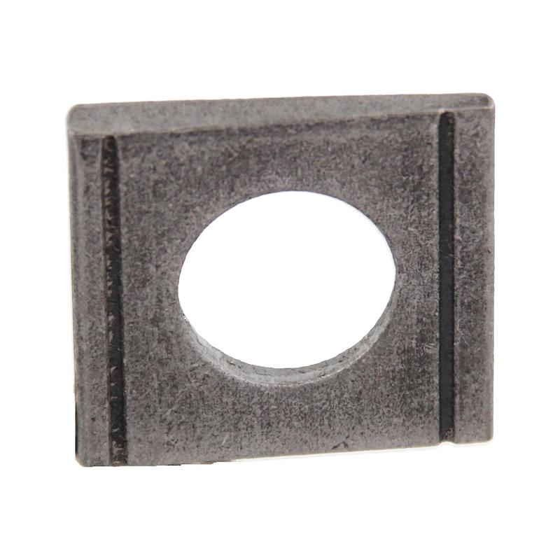 Scheibe, vierkant, keilförmig für U-Träger - 1