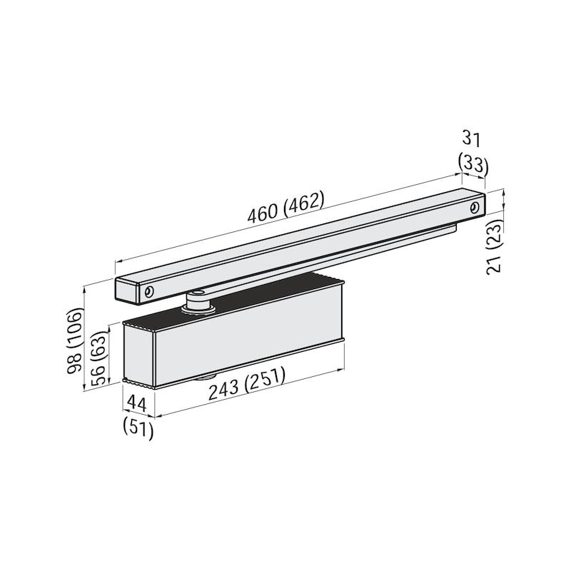 Türschließer GTS  630 mit Gleitschiene - 2