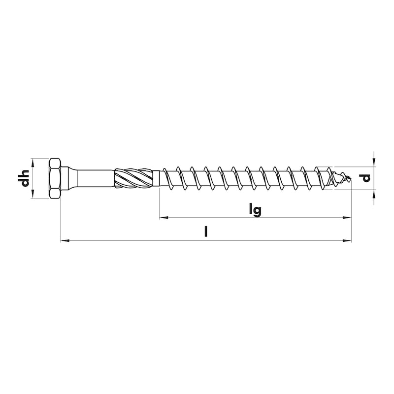 ASSY<SUP>®</SUP> 3.0 combi  Timber screw - SCR-WO-HEX-AW40-(A3K)-10X160/100