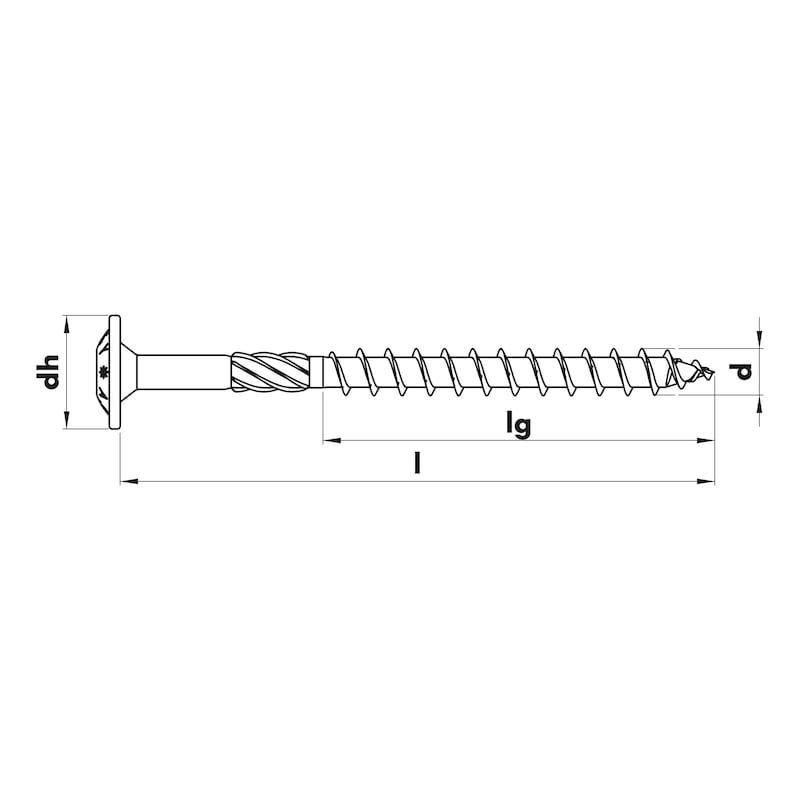 ASSY<SUP>®</SUP> 3.0 SK Timber screw - SCR-SK-WO-AW50-(A2L)-10X480/120