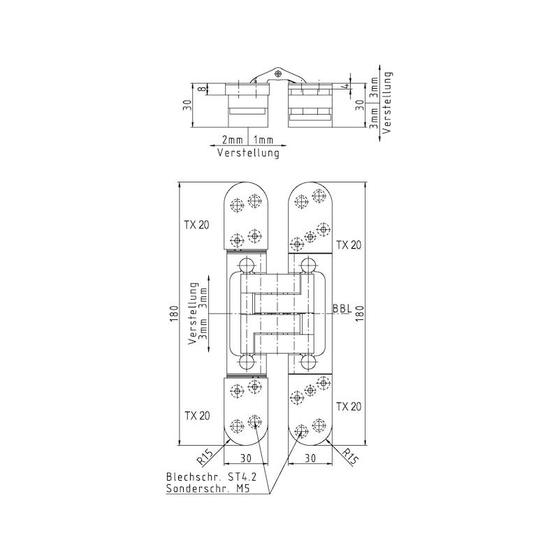 Türband VLB 100 3 D Design für Belastungen bis 120 kg - 2