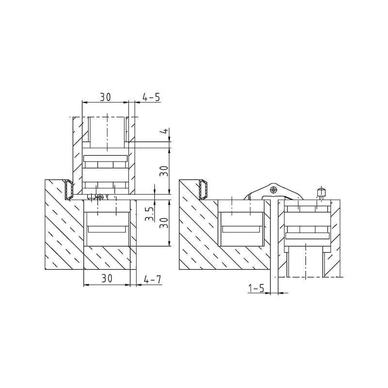 Door hinge VLB 60 3D Close - RECESHNGE-VLB60-3D-DESIGN-HINGE-(A2-OPTI