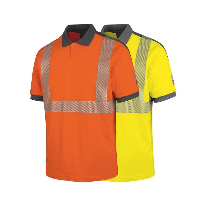 Neon Warnschutz Poloshirt Klasse 2