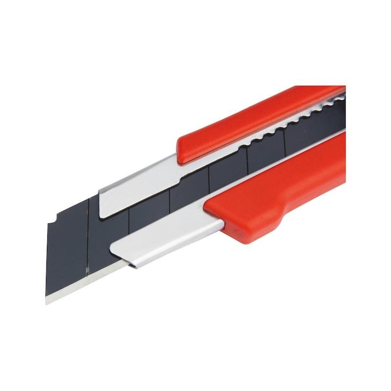 Cutter 1K avec molette de serrage - CUTTER PRO A VIS LAME LARGE 25MM