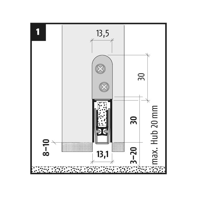 Automatische Türabdichtung  AT 48 FH + RD - 3