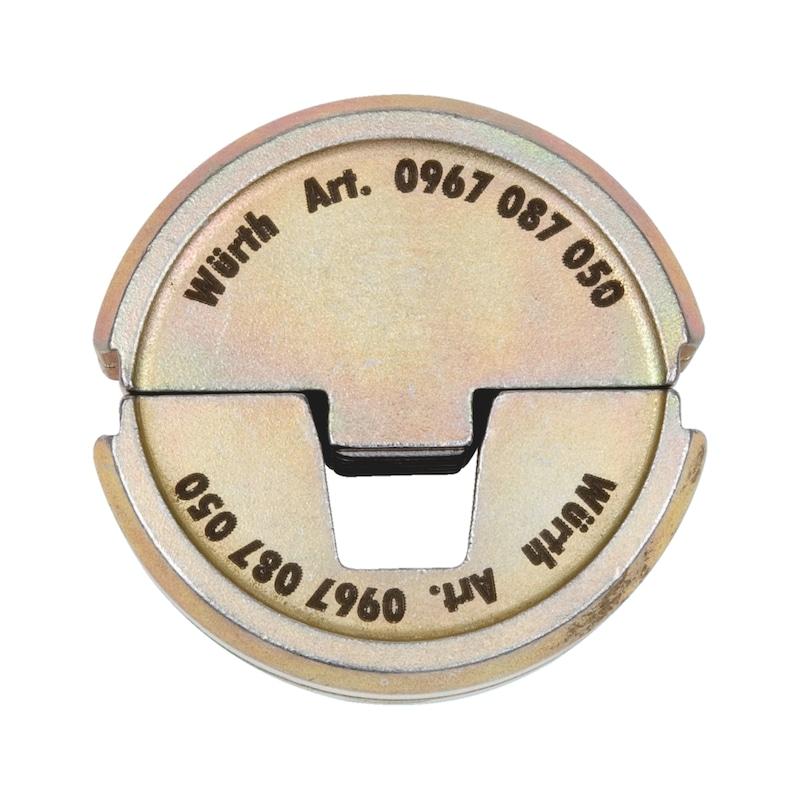 Halbschalen-Presseinsatz Trapezpressung - ZB-EINSATZ-PRESZANG-AENDHUE-70QMM