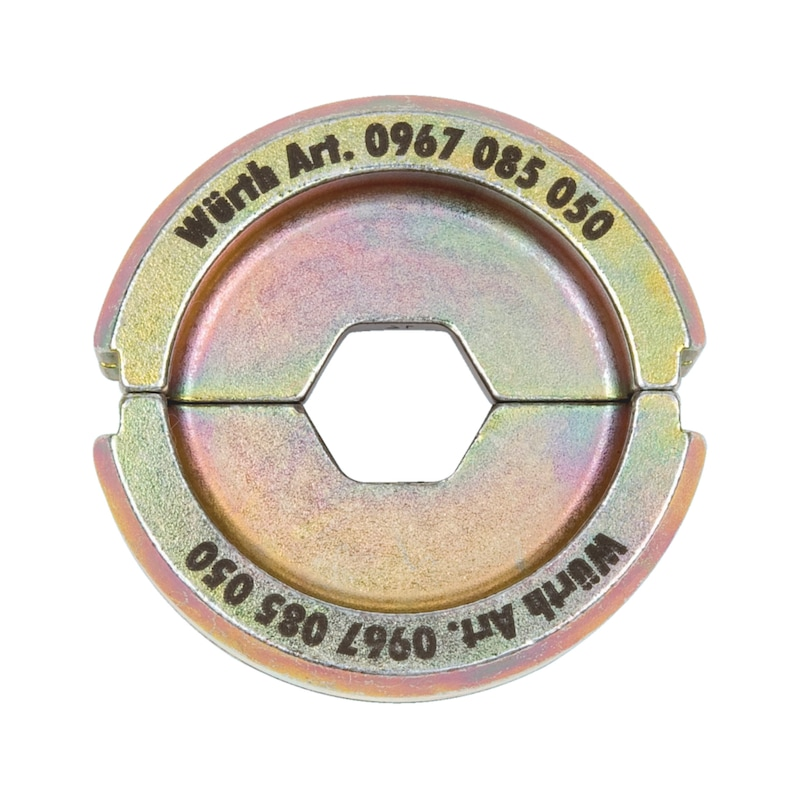 Halbschalen-Presseinsatz Sechskantpressung - ZB-EINSATZ-PRESZANG-6KT-DIN-185QMM