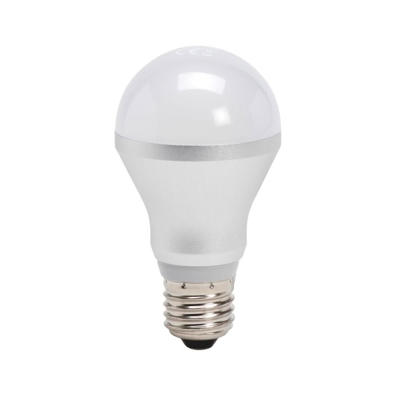 LED žiarovka, tvar žiarovky, 140° nestmievateľná - ZIAROVKA-LED-KOLBEN-5,5W-E27-WW