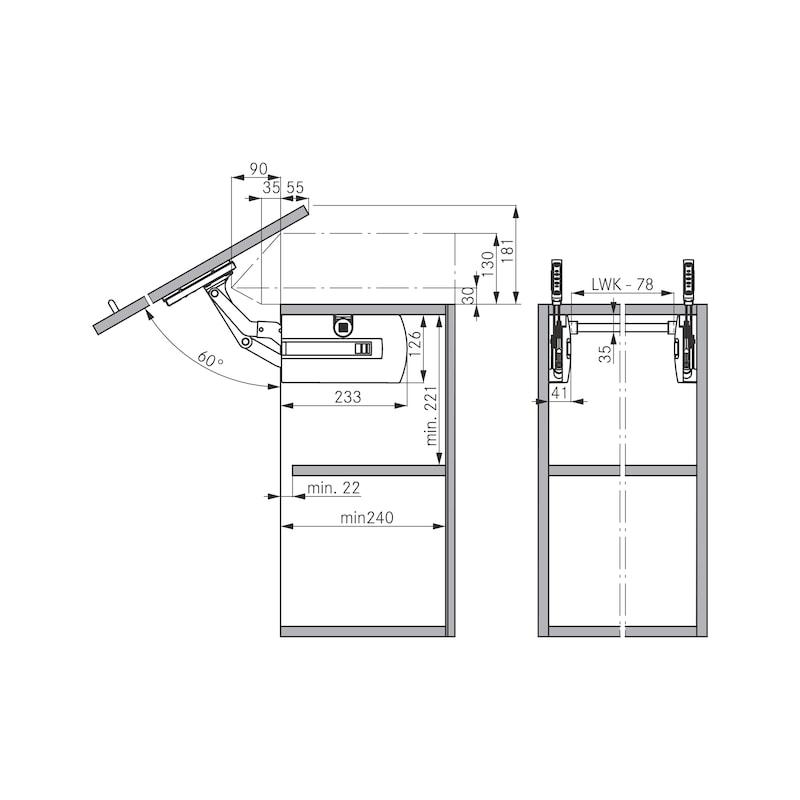Schwenkklappenbeschlag Kinvaro S-35 - 4